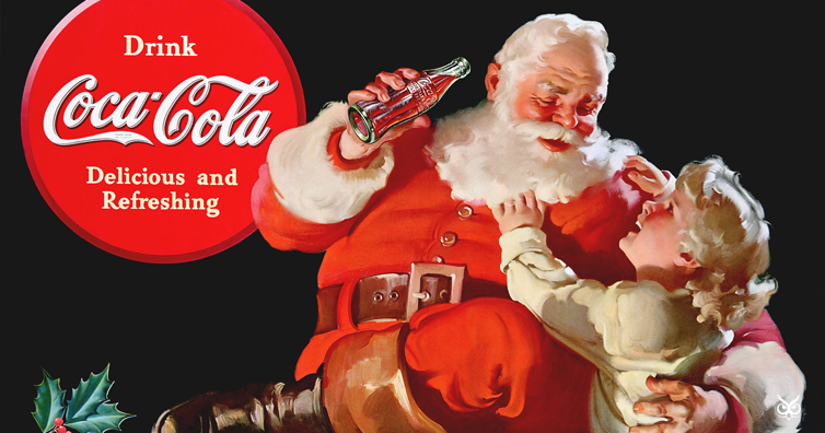 Image result for Santa Claus was invented by Coca-cola