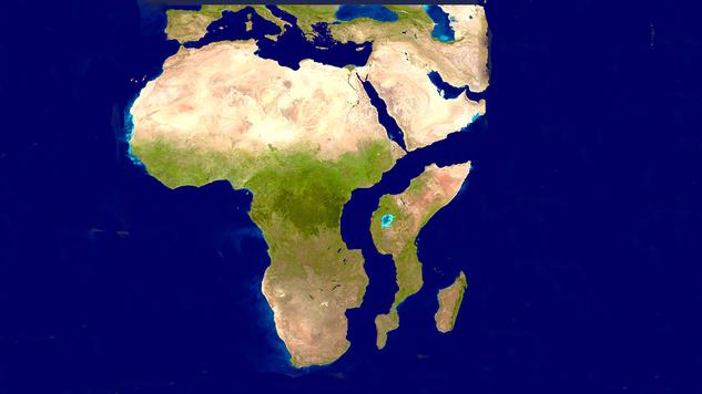africa splitting