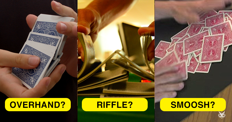 In The Hands Riffle Card Shuffle Tutorial (with bridge ...