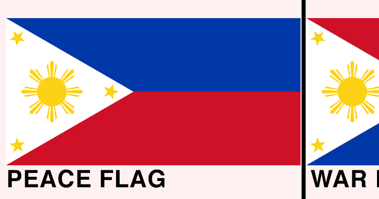 Philippine Flag Vertical Position