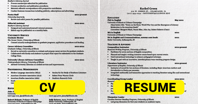 This Is The Difference Between Cv And Resume I M A Useless