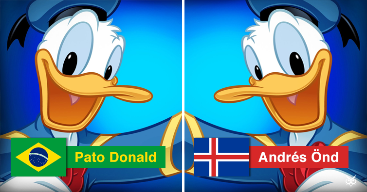 the different names of donald duck throughout the world i m a