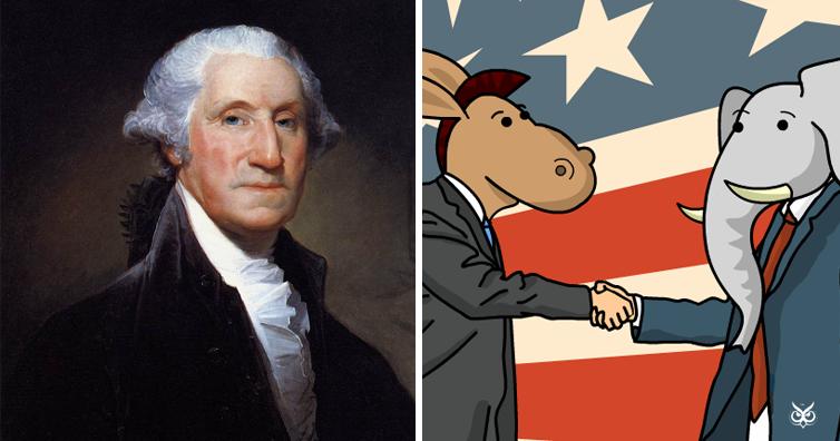 George Washington's Solemn Warning Against Party Strife ...  |George Washington Warning Against Parties