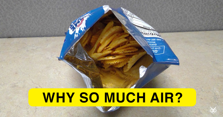 why are potato chips bags only half full im a useless