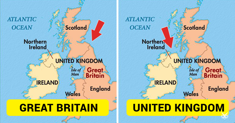this is the difference between great britain and united kingdom