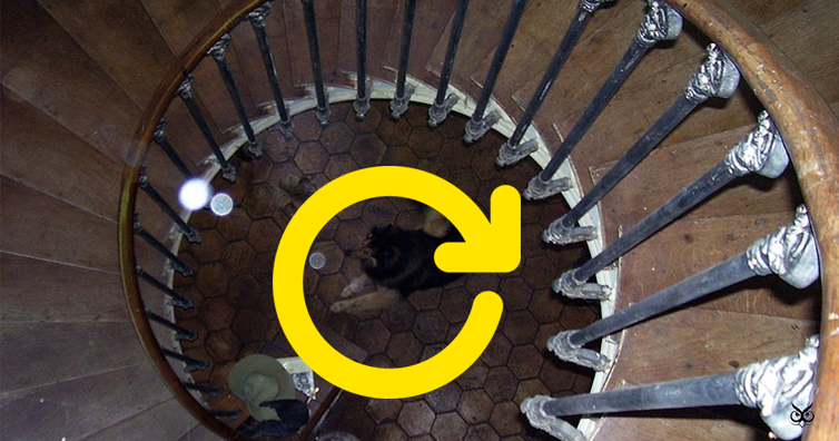 The Strategic Reason Why Spiral Staircases Always Go Clockwise When Youu0027re  Going Up