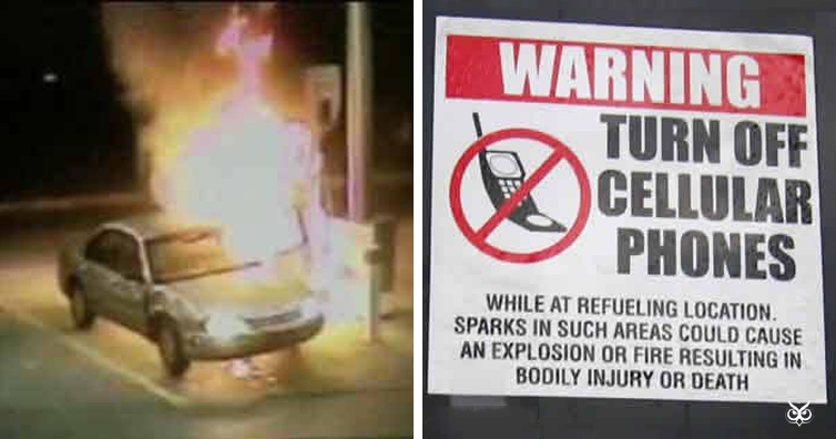 can you really cause an explosion by using a cellphone at