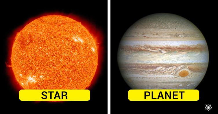 difference between stars and planets with comparison - 754×396